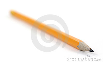 Single pencil with sharp tip