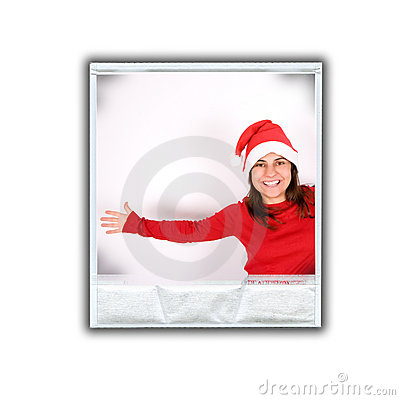 Single photo frame with christmas image