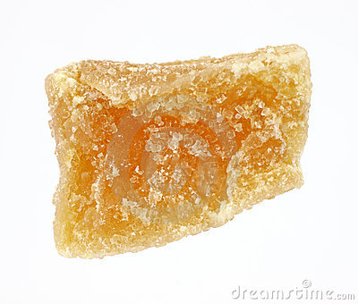 A single piece of candied ginger