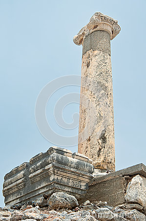 The single pillar of Ephesus,Turkey