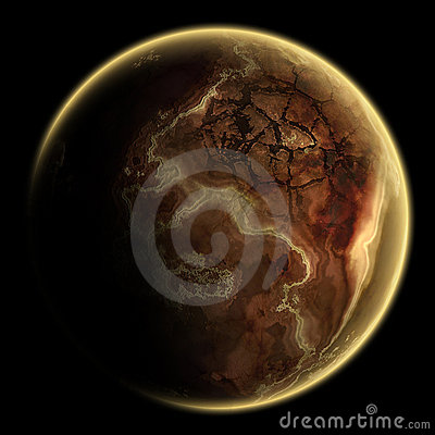 Free Single Planet Deep In The Galaxy Royalty Free Stock Photos - 8162248