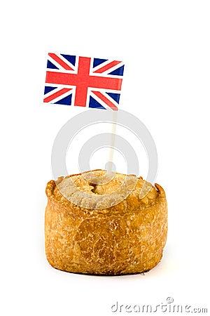 Single pork pie with union jack