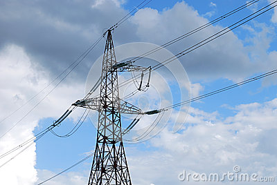 Single power line tower