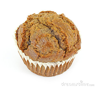 Single raisin bran muffin