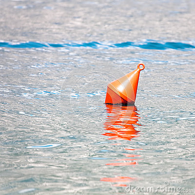 Free Single Red Buoy Stock Photography - 27542162