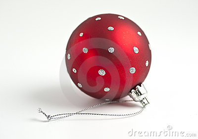 Single red christmas ball