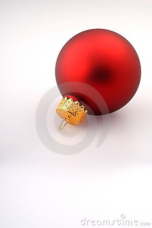 Single Red Christmas Ornament