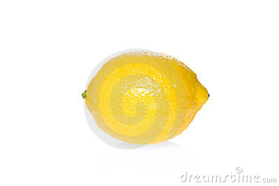 Single ripe lemon