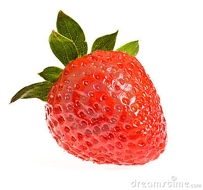 Free Single Ripe Strawberry Stock Image - 13500101