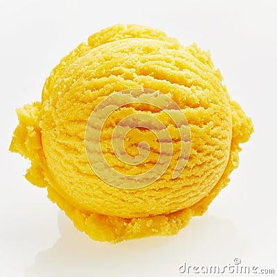 Free Single Scoop Of Yellow-Orange Ice Cream Royalty Free Stock Photo - 90239805