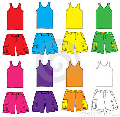 Single and Shorts with colorful