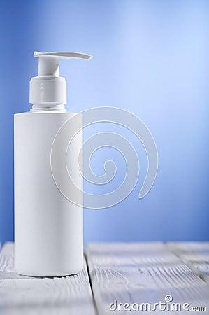 Single skincare white sprayer on table