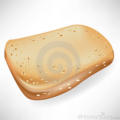 Single slice of bread