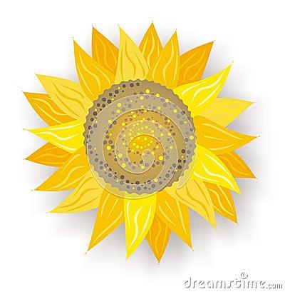 Free Single Sunflower Royalty Free Stock Image - 585076