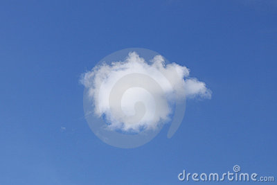 Single White Fluffy Cumulus Cloud