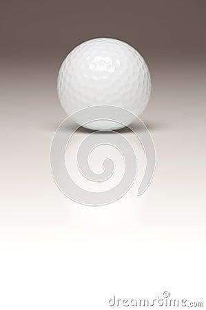 Single White Golf Ball on Gradated Backgroun