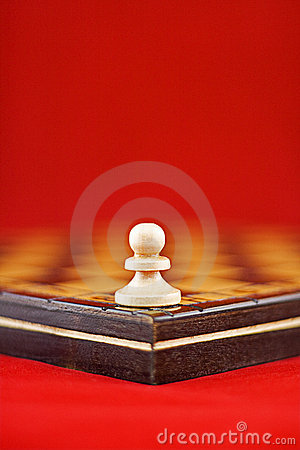 Single white pawn