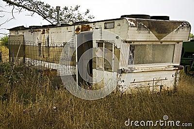 Single Wide Trailer Disrepair Junk Royalty Free Stock