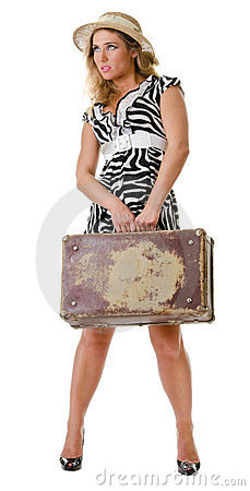 Single woman traveling