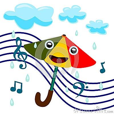 Sings in the rain