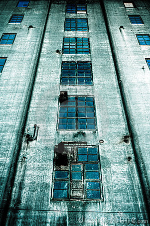 Sinister dark building