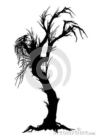 Free Sinister Tree Silhouette Stock Photos - 34302143