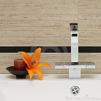 Sink and Faucet - Luxury Bathroom Interior