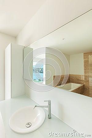 Free Sink Of A Modern Bathroom Royalty Free Stock Photos - 41439198