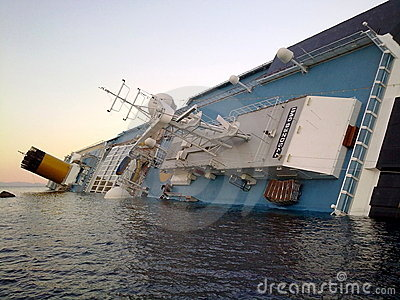Sinking cruise ship Costa Concordia Editorial Image