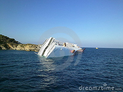 Sinking cruise ship Costa Concordia Editorial Image