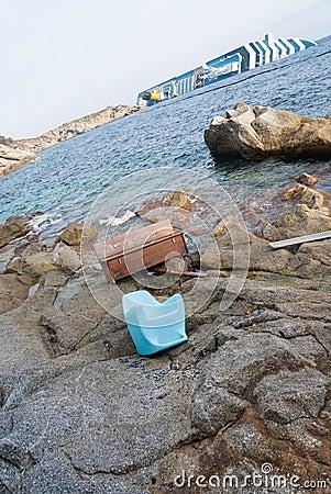 Sinking cruise ship Costa Concordia, Editorial Photo