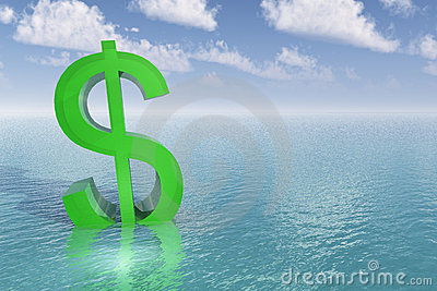 Sinking Dollar Sign