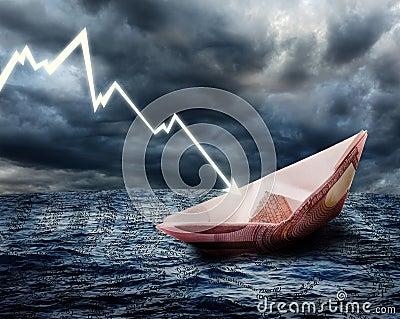 Sinking euro ship