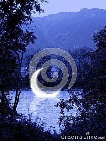 Free Sinking Moon Eclipse Stock Photo - 2397310