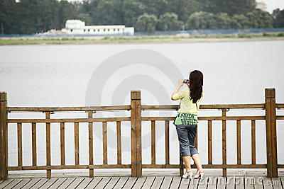 Sino-North Korean frontier 2011 Editorial Photo