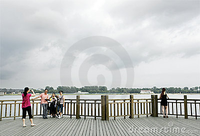Sino-North Korean frontier 2011 Editorial Stock Photo
