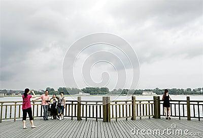 Sino-North Korean frontier 2011 Editorial Stock Photo