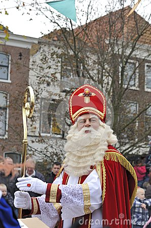 Sinterklaas looking at the crowd Editorial Image