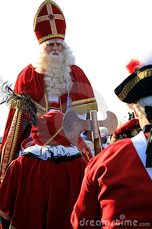 Sinterklaas and retinue Editorial Stock Photo