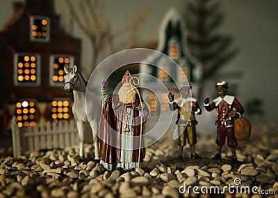 Sinterklaas, Zwarte Piet and horse