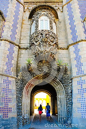 Free Sintra National Palace Trinton Window And Arched Tunnel, Portugal History, Travel Lisbon Stock Photos - 113186643