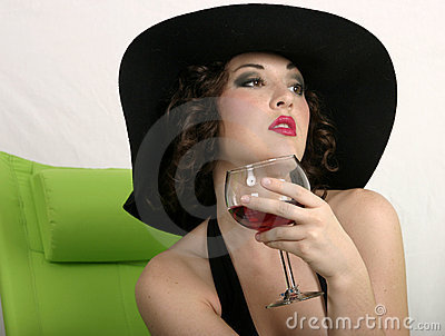 A sip of wine