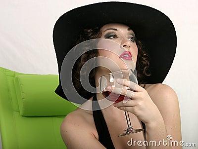 A sip of wine