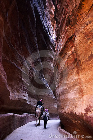 The siq - petra Editorial Image
