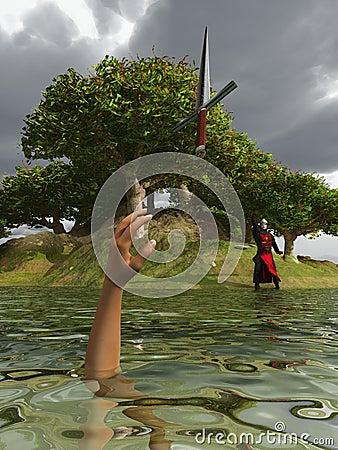 Free Sir Bedivere At The Lake Shore Royalty Free Stock Photo - 11326695