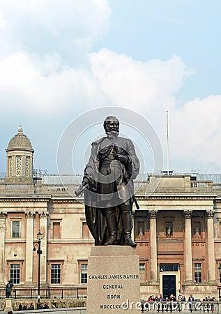 Sir Charles James Napier statue Editorial Image