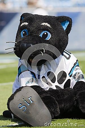 Sir Purr Kansas City Chiefs Vs Carolina Panthers Editorial Photography