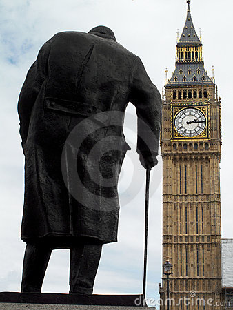 Sir Winston Churchill statue Editorial Image
