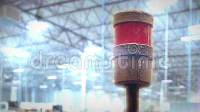 Sirena de la fábrica almacen de video