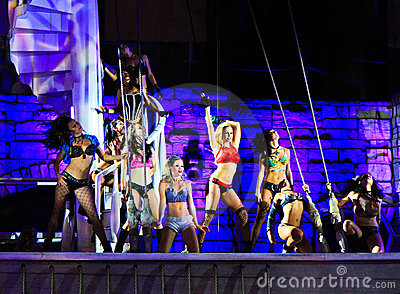 Sirens of TI show, Treasure Island, Las Vegas Editorial Photography